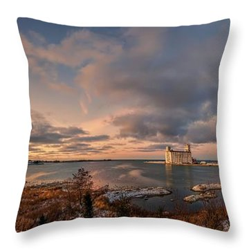 The Last Ice On The Bay Throw Pillow by Jeff S PhotoArt