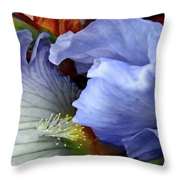 The Last Iris Throw Pillow