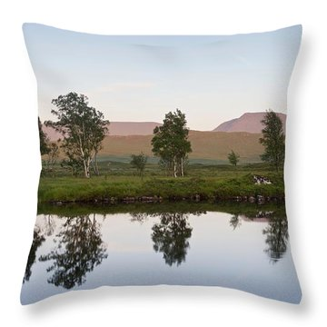 The Last Light At Loch Ba Throw Pillow
