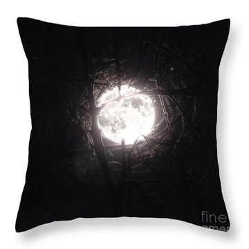 The Last Nights Moon Throw Pillow
