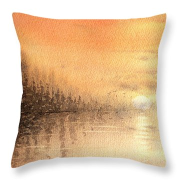 The Last Of Autumn Throw Pillow