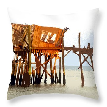 The Last Of Old Cedar Key Throw Pillow by David Lee Thompson