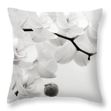 The Last Orchid Throw Pillow