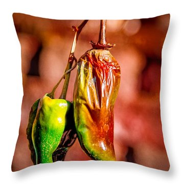 The Last Peppers Throw Pillow