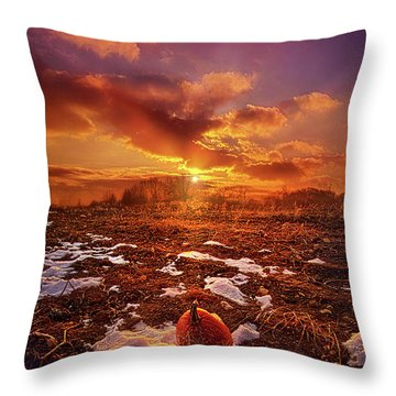 Throw Pillow featuring the photograph The Last Pumpkin by Phil Koch