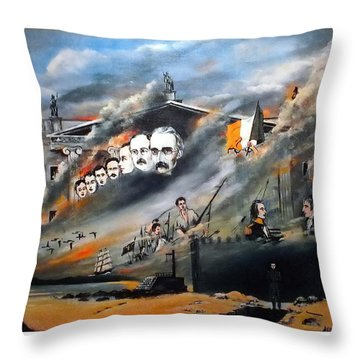The Last Rebellion  1916 Throw Pillow