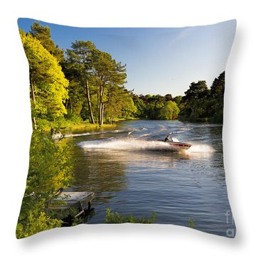 The Last Run Throw Pillow