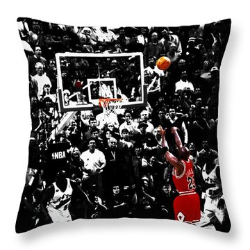 The Last Shot 23 Throw Pillow