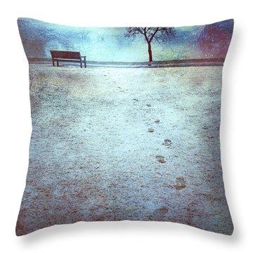 The Last Snowfall Throw Pillow by Tara Turner