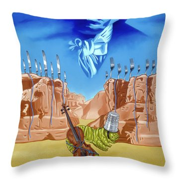The Last Soldier An Ode To Beethoven Throw Pillow