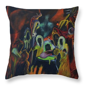 The Last Supper Throw Pillow by Christophe Ennis