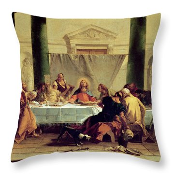 The Last Supper Throw Pillow by Giovanni Battista Tiepolo