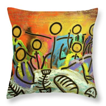 The Last Supper Recitation Throw Pillow
