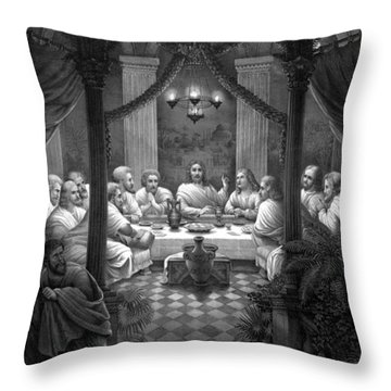 The Last Supper Throw Pillow by War Is Hell Store