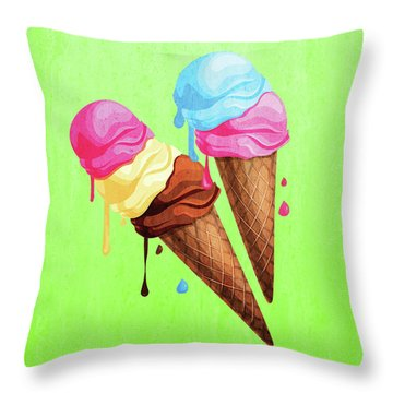 The Last Taste Of Summer Is The Sweetest Throw Pillow