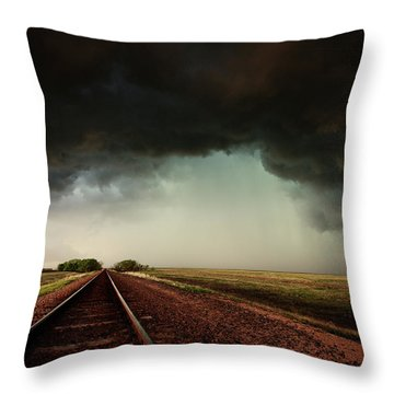 The Last Train To Darksville Throw Pillow