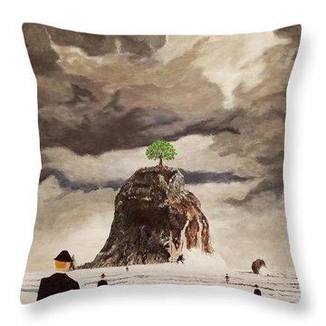 The Last Tree Throw Pillow