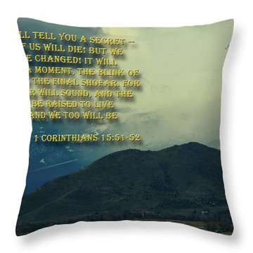 Throw Pillow featuring the photograph The Last Trump by Tikvah's Hope