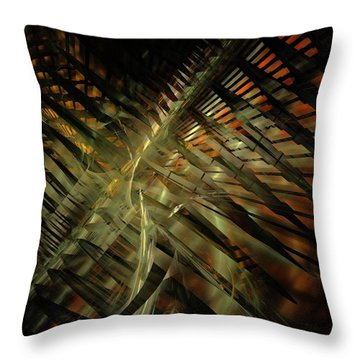 Throw Pillow featuring the digital art The Last Vestiges Of Winter by NirvanaBlues