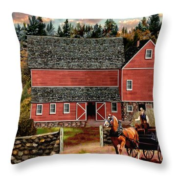 The Last Wagon 2 Throw Pillow
