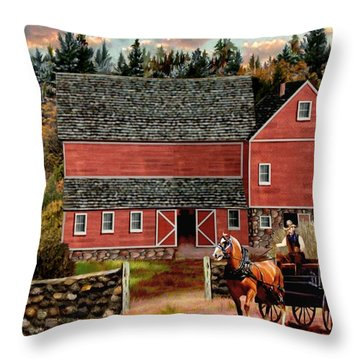 The Last Wagon Throw Pillow