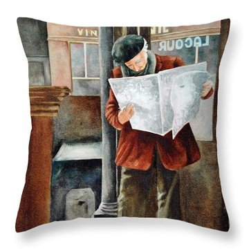 The Latest News Throw Pillow