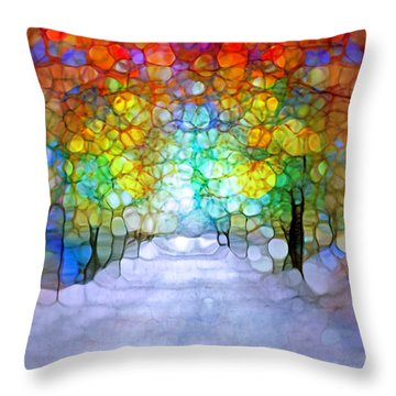 The Laughing Forest Throw Pillow