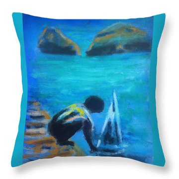 The Launch Sjosattningen Throw Pillow