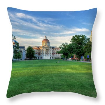 The Lawn At Christopher Newport University Throw Pillow