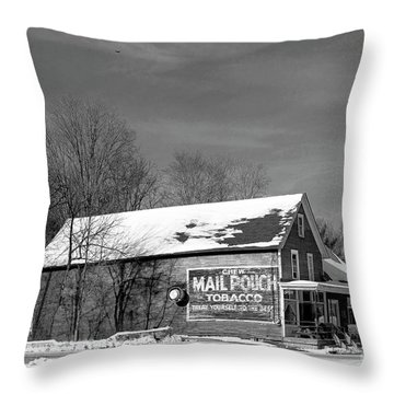 The Layton Country Store Throw Pillow