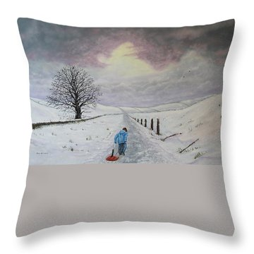 The Leader Of The Pack Throw Pillow by Paul Newcastle