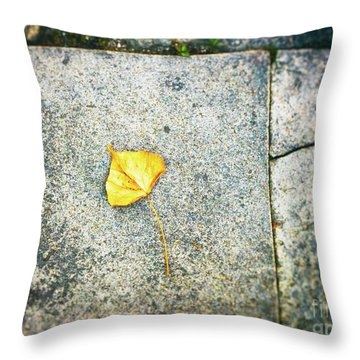 Throw Pillow featuring the photograph The Leaf by Silvia Ganora