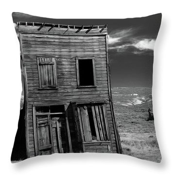The Leaning Tower Of Bodie Throw Pillow by Marius Sipa