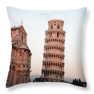 The Leaning Tower Of Pisa Throw Pillow by Marna Edwards Flavell