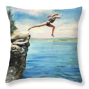 The Leap Throw Pillow