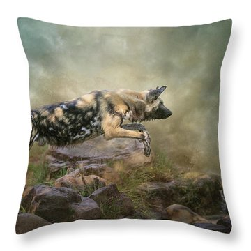 The Leap Throw Pillow