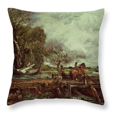 The Leaping Horse Throw Pillow by John Constable