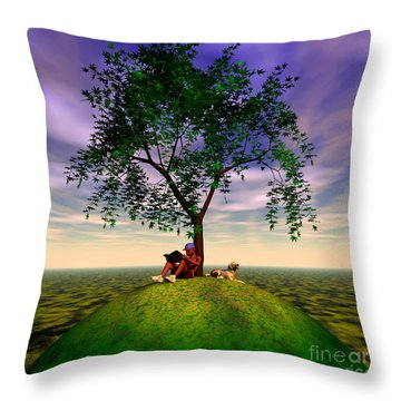 The Learning Tree Throw Pillow by Walter Oliver Neal