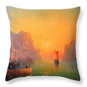 The Leaving Throw Pillow