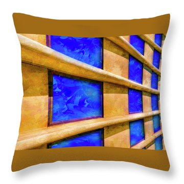 The Ledge Throw Pillow by Paul Wear