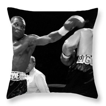 The Left Jab Throw Pillow by David Lee Thompson