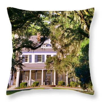 The Legare-waring House At Charles Town Landing Throw Pillow