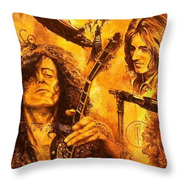 The Legend Throw Pillow by Igor Postash