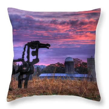 Throw Pillow featuring the photograph The Legend Lives On The Iron Horse Art by Reid Callaway
