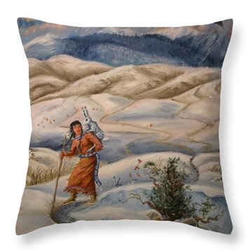 The Legend Of Lame Rabbit Throw Pillow