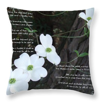 The Legend Of The Dogwood Throw Pillow