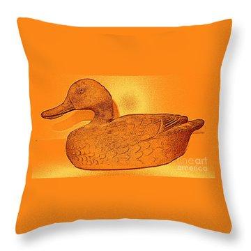The Legend Of The Golden Duck Throw Pillow