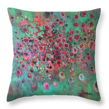 Throw Pillow featuring the painting The Legend Of The Phoenix by Laurie Maves ART