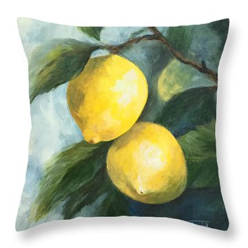 The Lemon Tree Throw Pillow