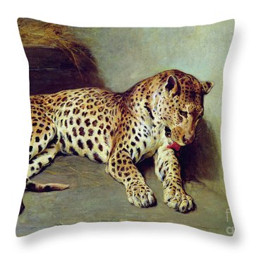 The Leopard Throw Pillow by John Sargent Noble
